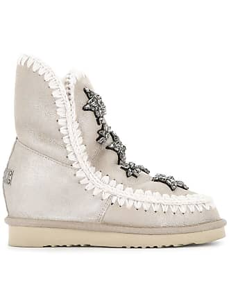Boots Mou Neutres Tons Snow Embellished Eqw86