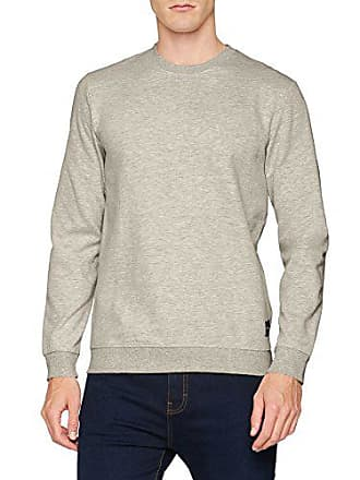 Homme Shirt Neck Onsbasic Gris Noos Sons Sweat amp; Crew Brushed light Only XU8zwq6x