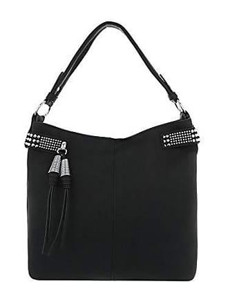 Kunstleder Damen Mittelgroße Schwarz design Schultertasche Handtasche Ital IfRWvqww
