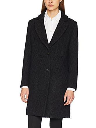 Lenght black 903 Medium Sisley Mid Coat Noir Femme Manteau S5WqxRp1