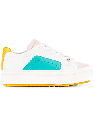 Colourblock Sneakers Pierre up Lace Hardy Blanc 5wnAqOR