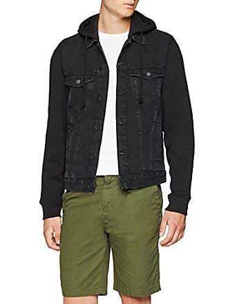 Medium Jersey Noir En Veste Look Jean Sleeve black Homme New 7qwSaz0