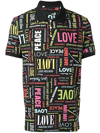Love Imprimé All overNoir à Polo Moschino Nmv0O8nw