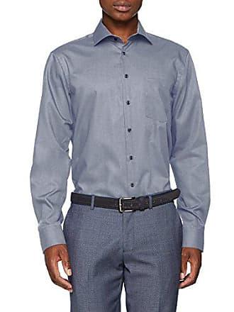 Iron lunga De 15 collare con 39 Camisa Non Manica Uni Oficina blu Cm moderna Para con ricamo Hombre seta in Azul Kent vqwOHdw