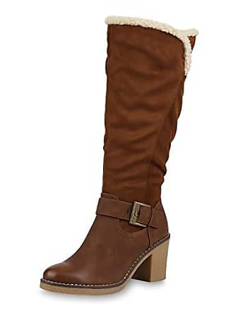 41 Winterstiefel Boots Kunstfell Damen Vita 171031 Stiefel Winter Warm Scarpe Braun Gefütterte wNynv8Om0