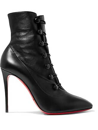 Tutu Louboutin Christian Cuir En Bottines French Noir 100 XdBqAR