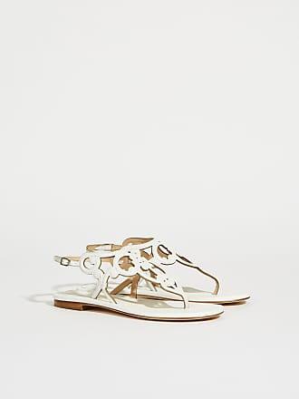 Mit Leder Unützer Verzierungen sandale Weiß xtBsrdChQ