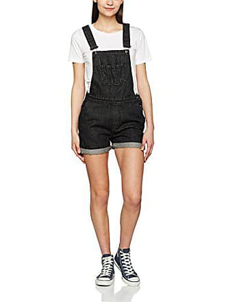 709 Washed Dungaree Classics Ladies Petos Negro Para Mujer Short black Large Urban wTvAzq7
