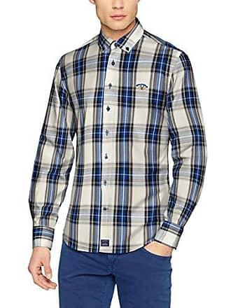 negro 001013 Para Cm tamaño Camisa Popelin Cuello Hombre Del Beige azul cuadro Y Boton 0025 Spagnolo Casual Gris Multicolor Fabricante 02 Small qd70aw0