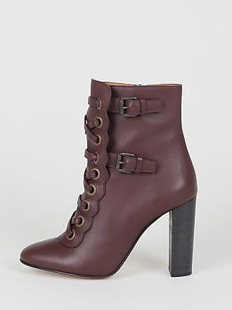 10 5 Leather Size Chloé 38 Cm Booties EYRZn6qz