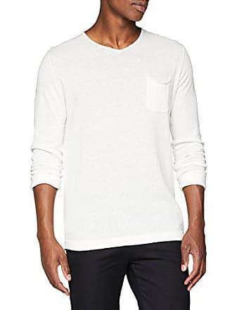 Blanc con scollo maglione uomo Large Premium a di Jones Jprjosh Knit per Jack V X6Yw7
