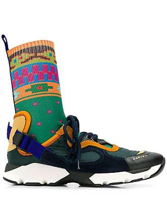 Groen Gebreide High Carven top Sneakers wUfAIq