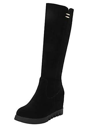 Elegant Keilstiefel Razamaza Tall Gr High Boots Damen Winterschuhe Heels Schuhe Black 39 Asian Plateau Party Knee 0qfTEUq
