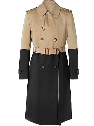 Wool Trench block gabardine Mcqueen Cotton Colour Alexander Coat And Beige pg1qYHx