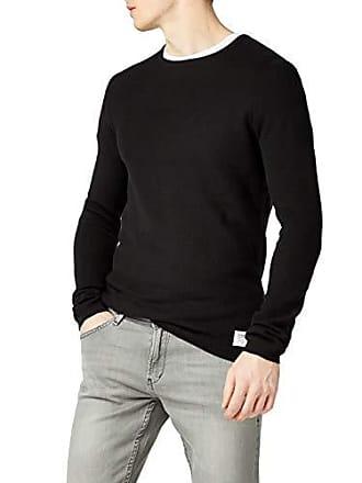 Tom Nos Pull Tailor Structured Noir 2999 black Crewneck Denim Homme F4qgFwWr