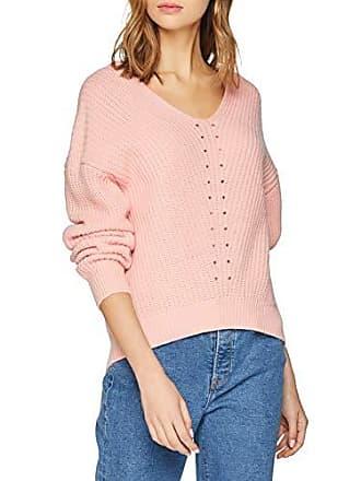 Selected Slfrose Rose Pull Powder Neck B Femme Pink V Knit Ls 11Sqdnwar