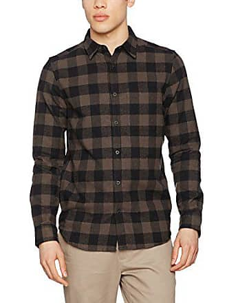 Camisa M Logchopper Look New Hombre Para Peppercorn Check dark Gris Grey vqUxwIC