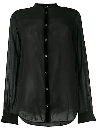 Blouse Noir Band Collar forte Forte Iqnaw6tWxR
