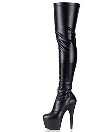 Gr heels Damen Adore Pleaserusa Mattschwarz Higher Eu 39 Overkneestiefel 3000 xSqf0EWdw