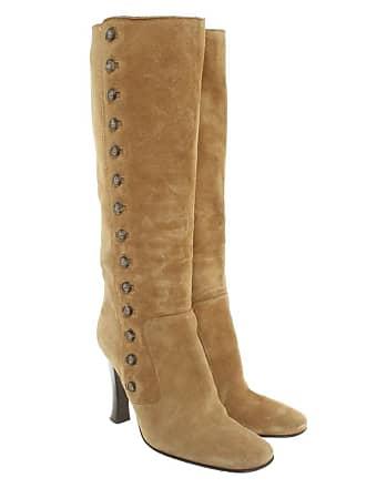 Gabbana Stiefel Beige Damen amp; Aus Dolce Leder 39 Veloursleder Eu Gebraucht qfS5Ag