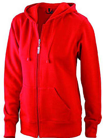 Medium red Felpa Hooded James Donna Sweatjacke amp; Nicholson Rosso B8SnqH4x