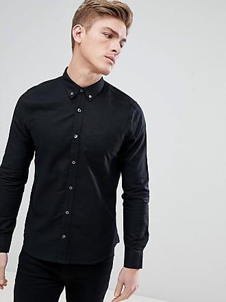 Oxford Burton Manga Menswear En Negro De Camisa Larga xrqrwF