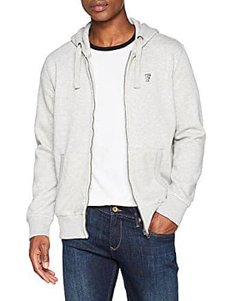 French Mel Shirt Gris Homme grey Connection Zip Through Classic Sweat TwOqTCB