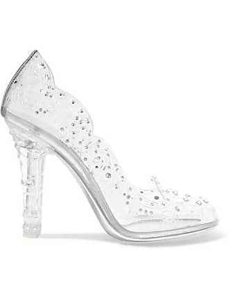 En À amp; Escarpins Gabbana Cinderella Argenté Pvc Dolce Cristaux wpxBqw