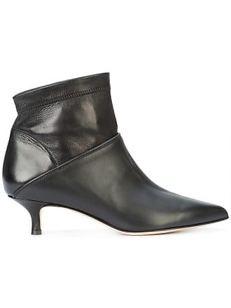 Boots Tibi Ankle Heel Noir Kitten wqHxYU7v