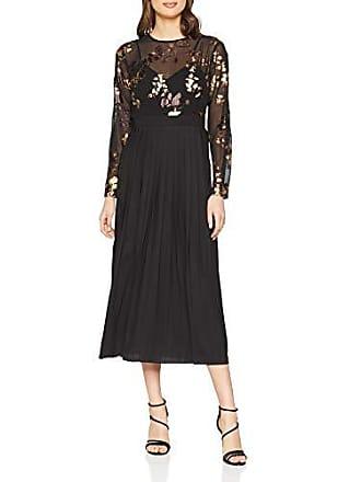 De Little Fabricante Vestido Mujer black 40 Multicolour Midaxi Mistress talla 12 Para Fiesta Gold Del Foil UwTqpAU