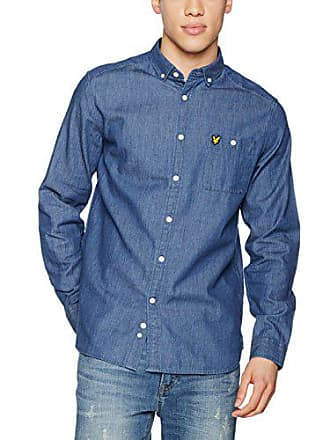 Homme Chemise Casual amp; Scott Lyle light Denim Z122 Bleu Indigo wXqHOx7