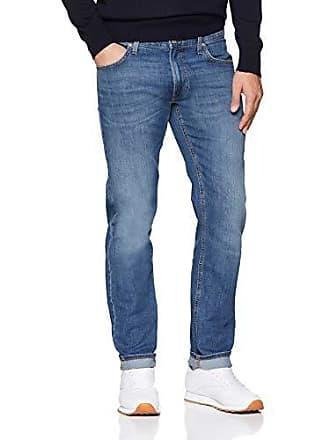 34 per uomo taglia Fly l34 W32 32 Jeans Vp dritti Daren blu indossato chiaro blu Zip Lee produttore aw4qU4