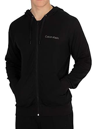 Calvin Felpa black 001 Medium Uomo Klein Nero Zip Full Sweatshirt BxBZrF