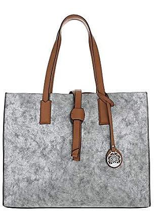 Einkauf Shopper Silber Schuhcity24 Buisness Umhängetasche Damen Tasche Schultertasche Große Zqnwzqf0