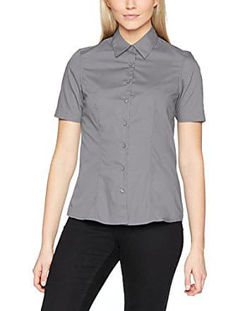 Ladies James Blusa Shortsleeve Business Shirt Nicholson Steel Para amp; 46 Gris Mujer ErOWnqE7