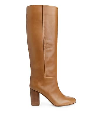 Orange Leather heel Arket High Boots pIwHFXFq