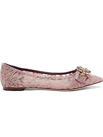 En Pointus Chaussures Cordonnet Dentelle Bouts Dolce Plates Gabbana Lilas amp; Cristaux À zxYEZCqW0w
