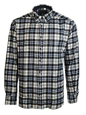 Langarm Schwarz Kariert Comfort Hemd 46 Weiß Flanell Hemden Freizeit Baumwolle Eterna Warme Grau Karo Xxl Fit Herrenhemd 8nN0wm