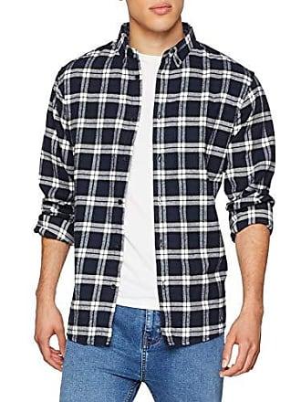 Shirt insignia Check camisa talla Casual Blue Juan Fabricante Blau Large Del B Solid 1991 Insignia Hombre 44 0Hdwq0