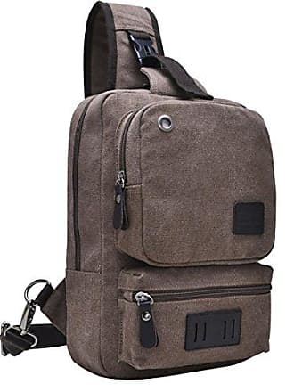 Brust Messenger 11 Baafg Tasche Shoulde Rucksack Reise Zoll Halten Herren Laptop onesize Wandern Können brown Sling Leinwand 5q4XwHFw