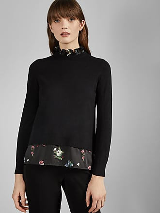Cotton Insert Jumper Mockable Ted Baker Oracle QxrdBeWoEC