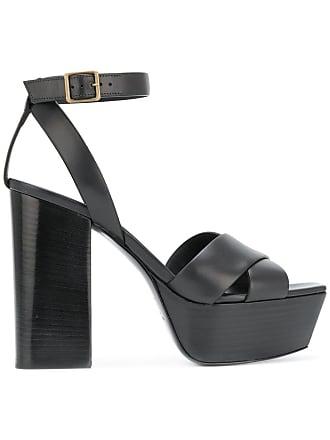Noir Farrah Sandales Laurent 80 Saint YwqgvaC5