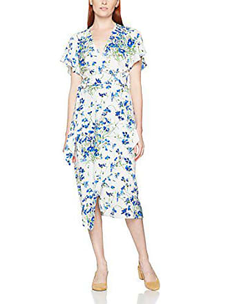 Wrap Bloom Para Blue Full 36 cream Mujer Multicoloured Warehouse Dress amp; Vestido xfB51