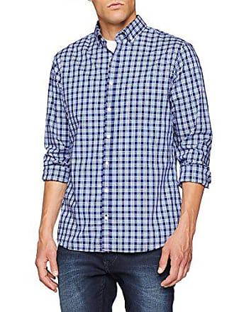 Style 25 40 Azul Para blau Camisa Brax daniel Casual Hombre 4S87dq