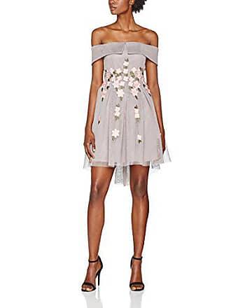 Bardot De Mujer Fiesta Vestido Grey Para Look 42 mid New Mesh Gris 04 Ewq4WgU6
