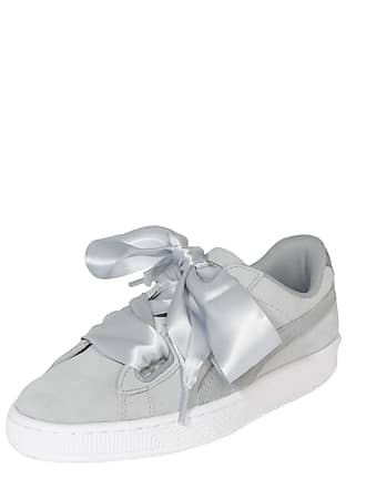 Puma Safari Hellgrau Heart Suede Sneaker Weiß n6xanpr