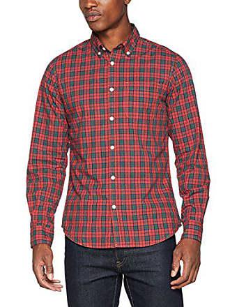 tamaño Fabricante Camisa l Del red Rojo De Para Cuadros Springfield Large Casual Hombre zxSfZggq