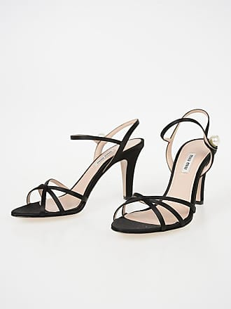 Miu 9cm 5 Leather 39 Heel And Sandal Fabric Size With vBvwPOF