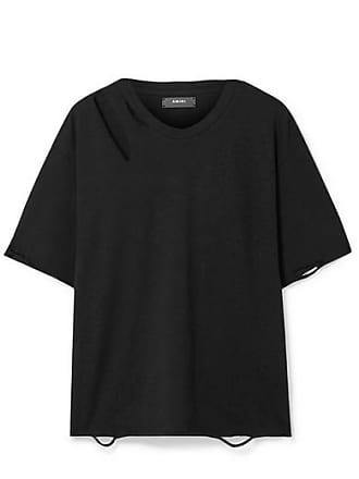 Amiri En Oversize Coton Effet SlashNoir shirt De T Vieilli Jersey ZkPOXui