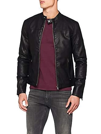taille Manches Homme Blouson Noir X Solid Fabricant Large Longues awU5n0